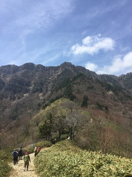 夜明かし峠から石鎚山頂.JPG