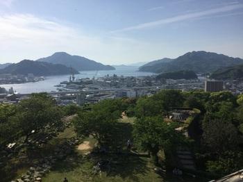 宇和島城天守閣からの展望.JPG